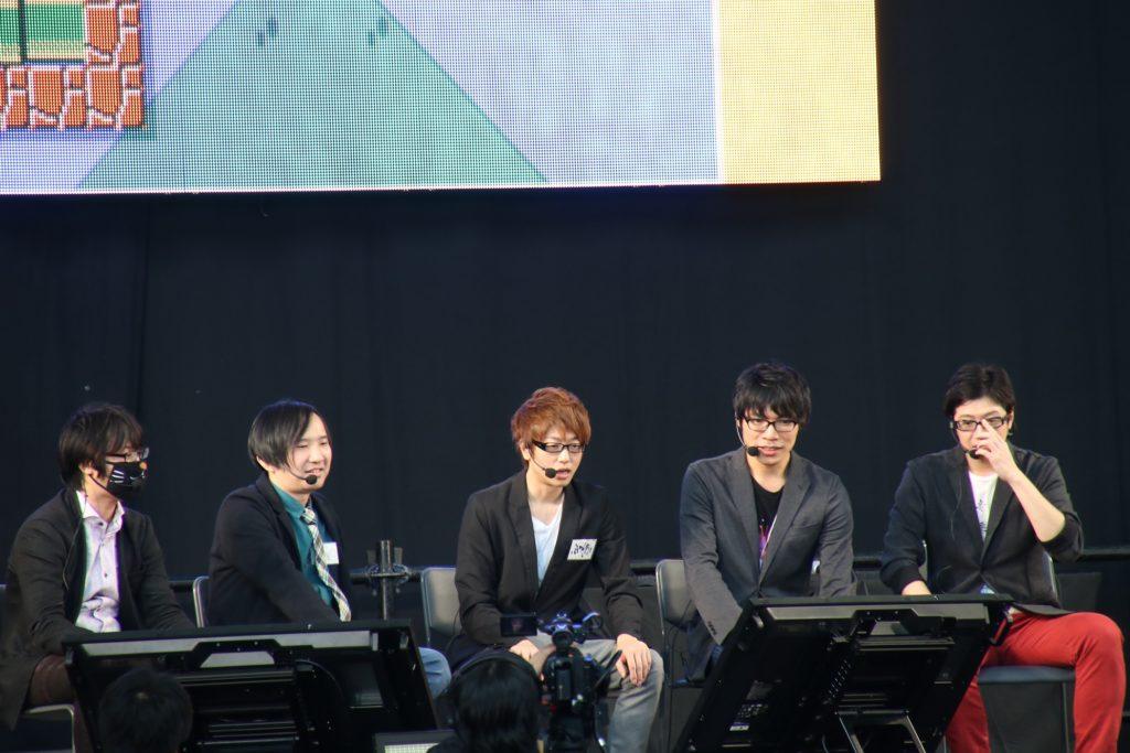 音速兄貴(左からセピア、5月病マリオ、ふぁんきぃ、towaco、recog)