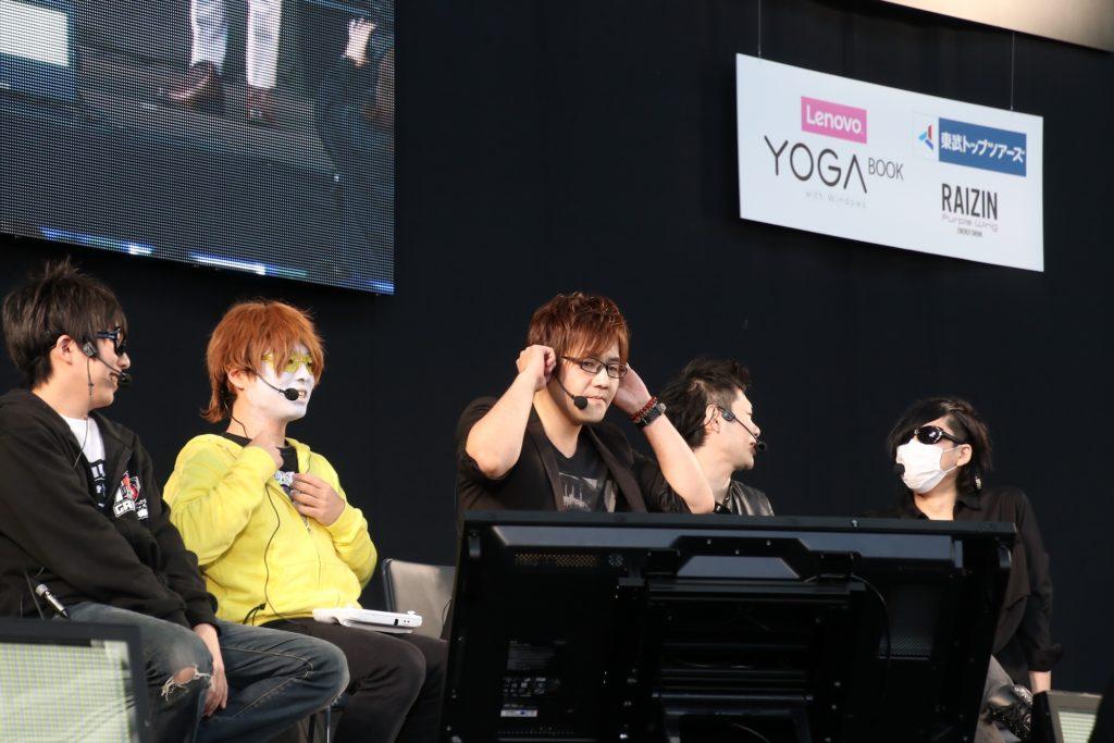 ゲーム実況者わくわくバンド(左からせらみかる、フルコン、湯毛、ヒラノ課長、フジ)