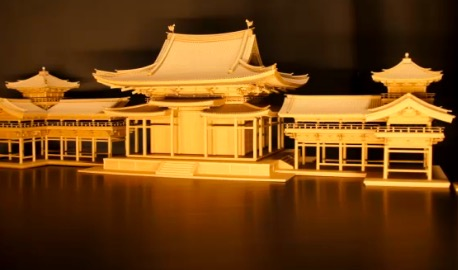 国宝、平等院鳳凰堂をダンボールで作ってみた。製作期間5ヶ月、部品数5千個、CGの様な精密さで国宝級の凄い作品ができました。