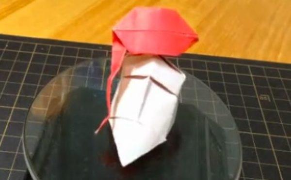 「さあ折り紙の時間だよベイビー」『ジョジョの奇妙な冒険』花京院典明を1枚の紙で折ってみた