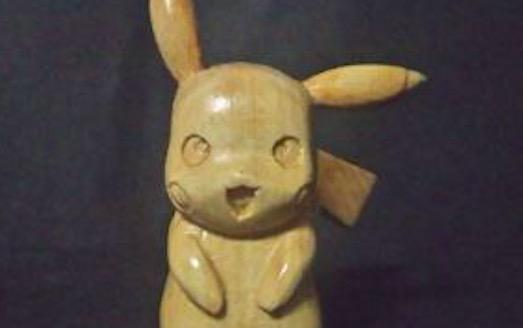 つやつやで可愛らしい『ポケットモンスター』木彫りのピカチュウを作ってみた