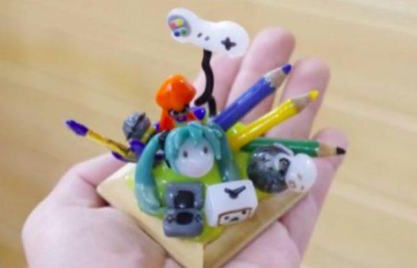 手のひらに広がるニコニコワールド! ガラス細工で『ニコニコ動画』の世界を表現してみた