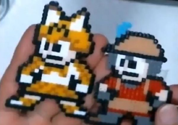アイロンビーズで『けものフレンズ』のキャラクターたちを『ロックマン』風に作ってみた