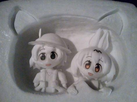 北国のフレンズが『けものフレンズ』雪像を作成。ずっと飾っておきたいすっごーい! クオリティ