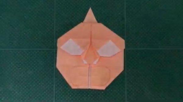 キン肉マンの顔を一枚の折り紙で作ってみた。完成までの繊細すぎる折り目に賞賛のコメント多数「ブラヴォー!」「しゅごーい」