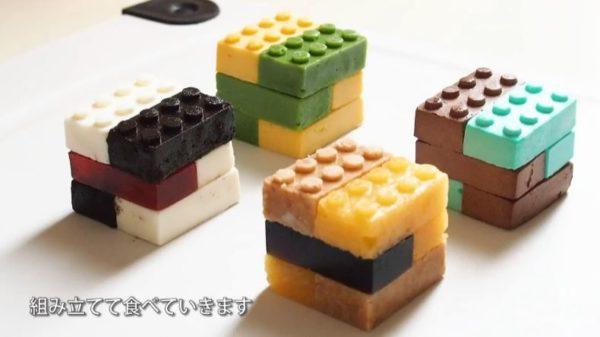 """レゴの形をした""""ババロア""""""""レアチーズ""""""""ジュレ""""etc…組み合わせで味は無限大「レゴランドで出すべき」「インスタ映えしそう」"""