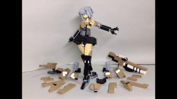 """『FAガール』豪雷をレゴで作ってみた。着脱可能な装甲の下の""""ムチムチ太もも""""も再現する執念に「いいものを見れました」"""