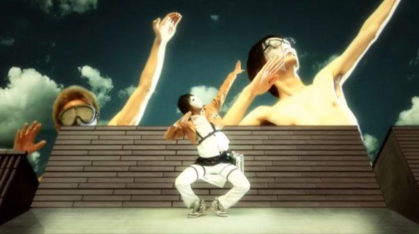 進撃の巨人OP『紅蓮の弓矢』のファンによるダンス動画。なぜか巨人まで再現する凝りように「踊ってないで早く巨人倒して下さい!」