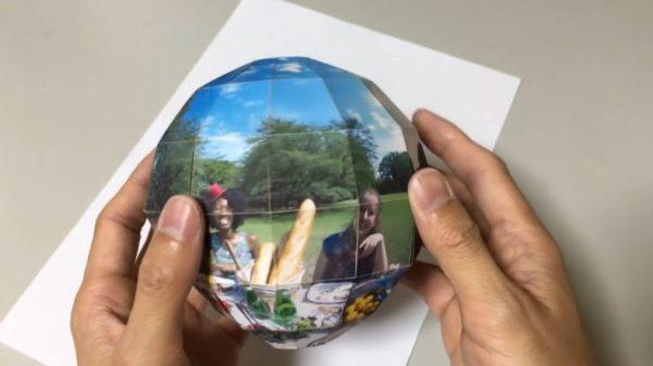 360度パノラマ写真を折り畳める球体写真に! 飛び出す絵本のように次々あらわれる様子に「楽しいぞこれ」「すげー!」