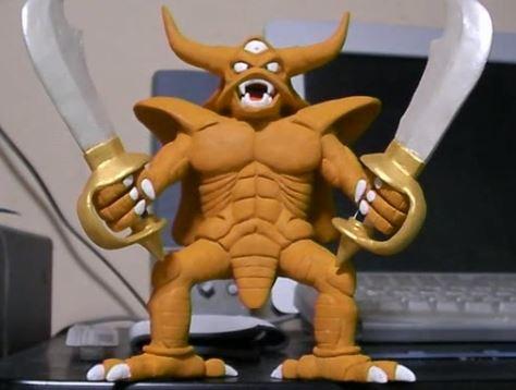 """『ドラクエ4&5』地獄の帝王を作ってみた その出来栄えはまさに""""神粘土""""級な件「わが名はエスターク…」"""