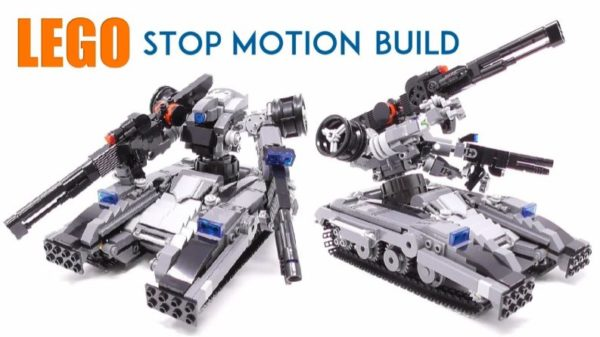 レゴで男の子大歓喜の戦車型ロボット作ってみた コマ撮りで完成していくすばらしい造形に「レゴってすげぇ!」