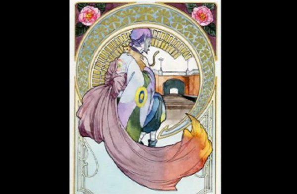 『モノノ怪』薬売りを巨匠・ミュシャのタッチで描いてみた 水彩画の繊細な作品世界に「きれいすぎて思わずため息が…」