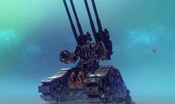 """""""最強すぎるガンタンク""""を作ってみた。禍々しいシルエットから漂うオーラとキャタピラで敵を蹂躙する様子は完全にラスボス!"""