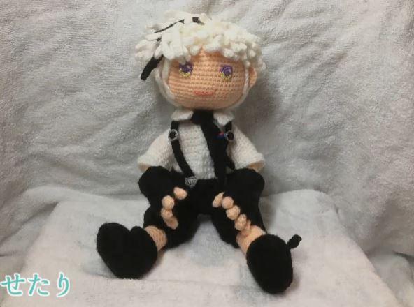 『文豪ストレイドッグス』中島敦 しっかりとポーズをとることができる編みぐるみを作ってみた