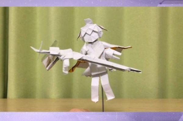"""『アズレン』サラトガを""""折ってみた""""…!? たった2枚の折り紙で杖や衣装も再現――緻密な折り込み作業に""""指揮官""""たちも感動"""