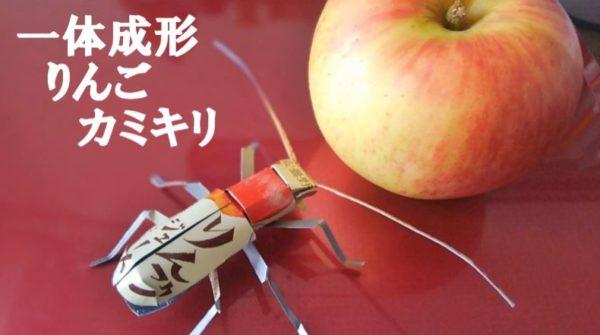 空き缶から作られた色とりどりの昆虫たち――カフェムシ・りんごカミキリ…カラフルな骨格から元のジュースを当ててみよう!