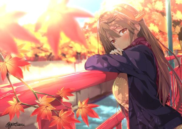 見れば見るほど魅力が増す。色あざやかな紅葉を彩る可憐な乙女たちのイラストまとめ