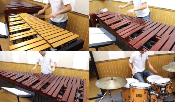 """""""ひとり打楽器四重奏""""で『千本桜』を演奏してみた。木琴・鉄琴・ドラム…マルチすぎる超絶技巧に「早送りかしら…?」の声"""