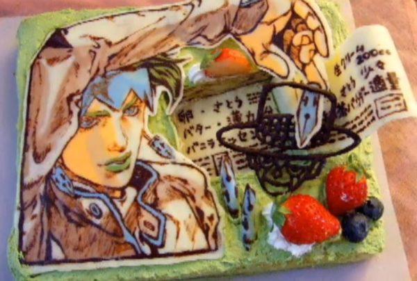"""グレートですよこいつはァ!『ジョジョ』岸辺露伴のスタンドで""""本""""になったキャラケーキを作ってみた"""