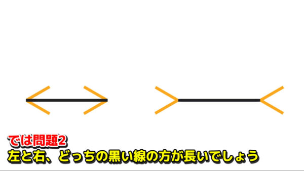 【問題】どちらの黒線が長いでしょう? 錯覚を用いた超難問、意表をついた問題の数々に「もう何も信じられない」の声