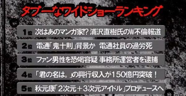 浦沢直樹不倫報道にみるマンガ業界の裏事情 「スクープはまだまだ続く!?」吉田豪と久田将義が語る