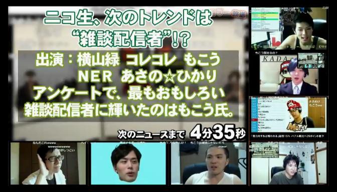 右上から、茸(たけ)・KADA・MOTTY・ぬどん・マッスル宮崎・倭寇(わこう)・recog