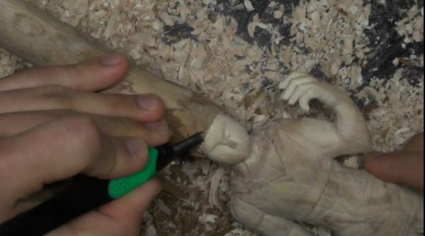 [HUNTER×HUNTER]木でゴンさんを作る!圧倒的ボリュームの毛髪を完全再現!
