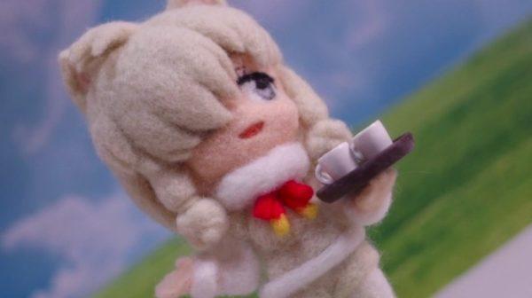 「ふわああぁ!」羊毛フェルトで作った『けものフレンズ』のアルパカさんが、ふゎふゎの質感で思わず触りたくなります