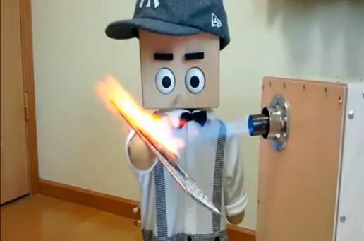 バーナー直火焼き! 一家に一台欲しい『全自動焼肉調理ロボット』