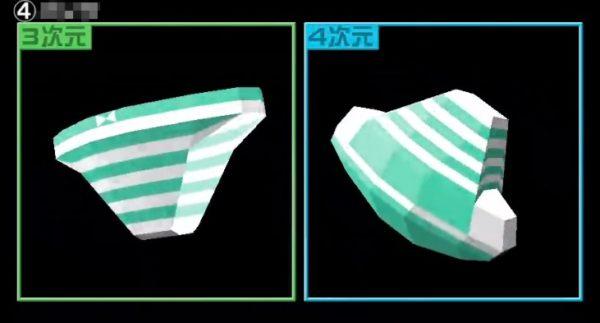 2次元縞パンを3次元・4次元化してみた。変態に技術を与えた結果がこれだよ!