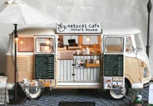 まるでアリエッティの世界にあるような、ミニチュアのレトロバスカフェを作ってみた