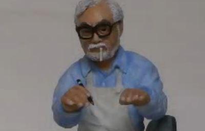 『ジブリ』の宮崎駿監督を石粉粘土で作ってみた。リアルすぎて今にも動き出しそう