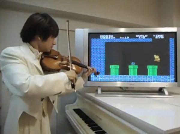 ヴァイオリンで『スーパーマリオブラザーズ』のBGMや効果音をリアルタイムに演奏してみた