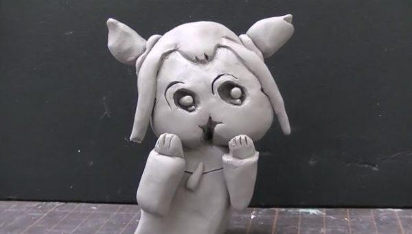 SAN値を削る狂気の造形。『ポプテピピック』名物コーナー「ボブネミミッミ」ボブ子を粘土で作って動かしてみた