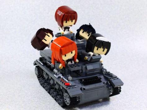 リモコンで操作も可能! 『ガールズ&パンツァー』レゴで「IV号戦車D型」を作ってみた