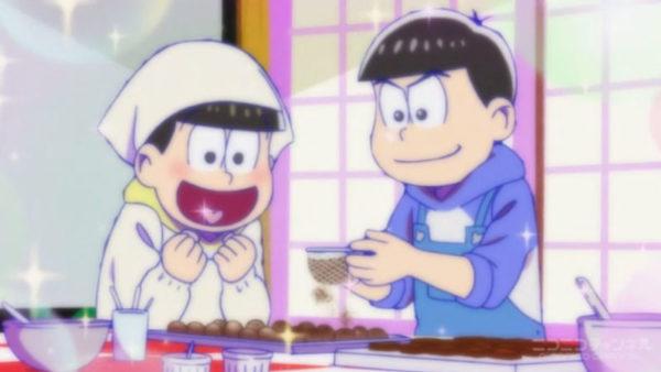 悲報、6つ子が兄弟同士で友チョコを贈り合う。『おそ松さん』(2期)第19話盛り上がったシーン