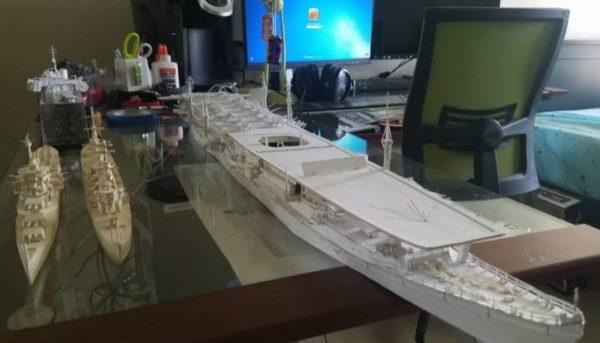 なんという紙ワザ! 高校生が紙で空母『瑞鳳』を作ってみた。迫力とディテールに圧倒される出来映え