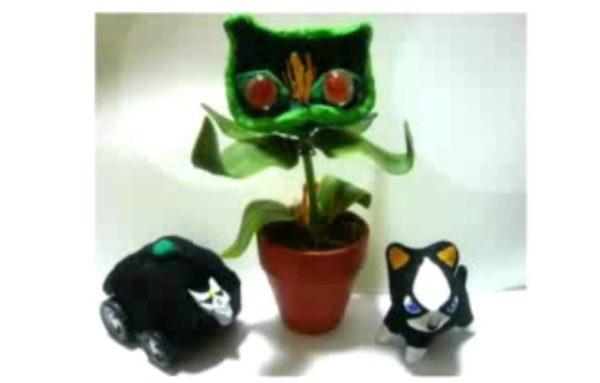 """『ジョジョ第4部』ストレイ・キャットを100均素材で作ってみた なんの変哲もない鉢植えが禍々しい""""猫草""""に変身"""