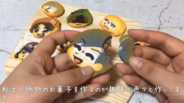"""「クッキー?いいえ、粘土です!」絵の具と粘土で作った""""食べられないスイーツ""""が超おいしそうな件"""