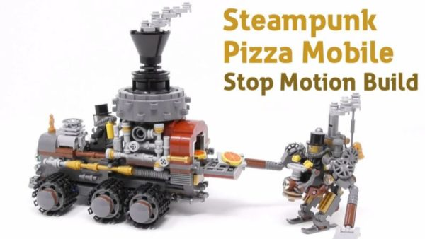 レゴでスチームパンク風のピザ屋さんを作ってみた! 大きな煙突・張り巡らされた配管…フェチ心がキュンキュンするレトロな近未来感
