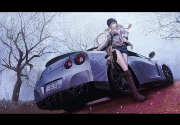 男のコが夢中になる組み合わせ「車×女子」イラスト詰め合わせはいかが?