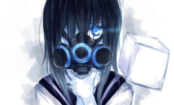 「ガスマスク女子」イラスト集16枚――顔を覆う無機質な装置からただよう異形のオーラ