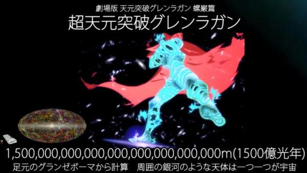 ガンダム、グレンラガン、エヴァetc…ロボットアニメに登場する機体の大きさを考証。大きさのインフレが行き着く先は銀河系サイズ!?