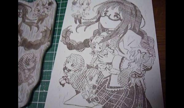 """『魔法少女まどか☆マギカ』""""眼鏡ほむら""""の消しゴムハンコが芸術的に完成! 「このハンコ押した葉書ほしい」の声も"""