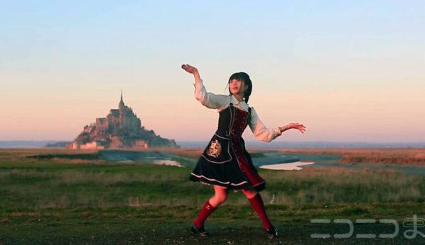 モンサンミッシェル×踊ってみた――絵画のようなロケーションで三つ編み美少女がダンスで魅せる「感動がはんぱない!」【踊り手:七河みこ】