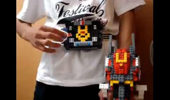 LEGOで『仮面ライダー龍騎』のVバックルとドラグバイザーを作って変身してみた! 契約モンスターは…ピカチュウ!?