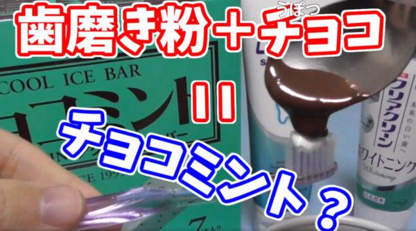 「歯磨き粉とチョコを足せば、チョコミントになるんじゃね?」 チョコミントと歯磨き粉を食べ比べて検証する猛者が現る!