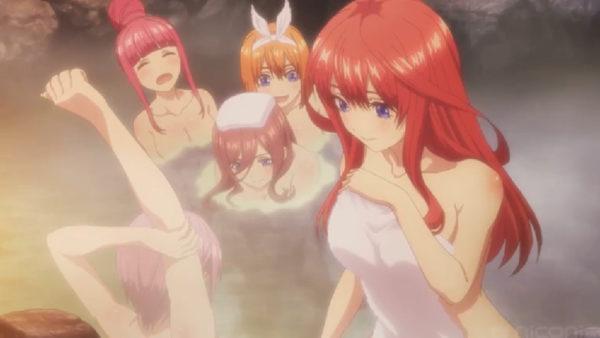 美人姉妹が5人揃って露天風呂を満喫! 3分で振り返る『五等分の花嫁』第9話盛り上がったシーン