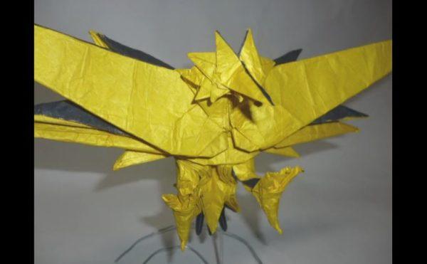 『ポケモン』伝説の鳥ポケモンのサンダーを折ってみた! 折り紙とは思えない完成度で「芸術だよ、これ」「感動するわ」の声