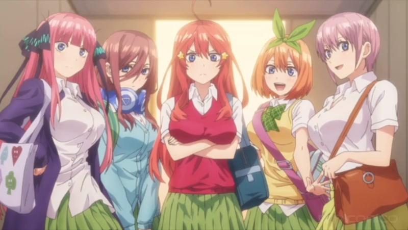 アニメ『五等分の花嫁』五つ子の中でスキンシップの多い子が判明! スキンシップ回数から姉妹のデレ度を調査してみた
